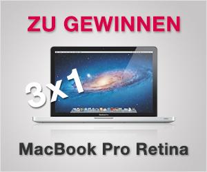 Gratis Wettbewerb: Gewinne ein MacBook Pro!
