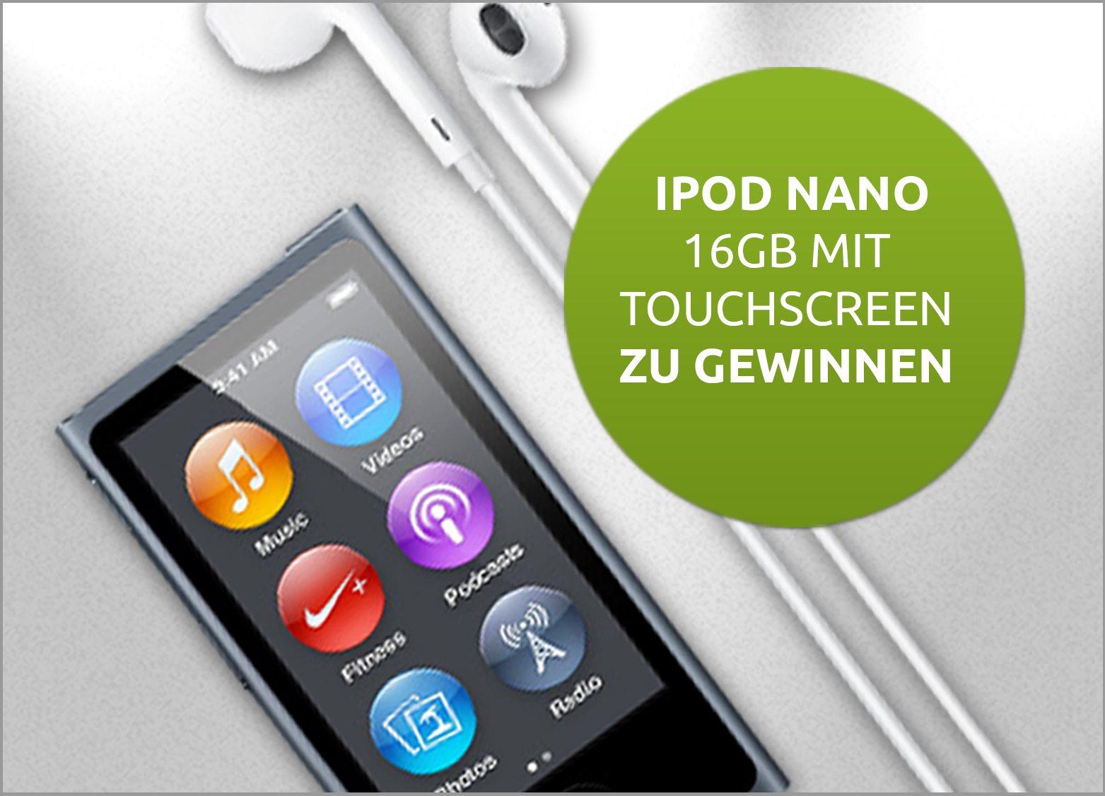 Gratis iPod gewinnen und Rabatt