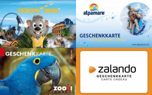 Gewinne Alpamare, Zalando, Zoo Zürich und Europa Park Karten!