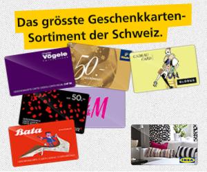 Geschenkkarten Wettbewerb Postshop.ch