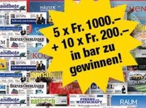 Presseabo Wettbewerb Schweiz