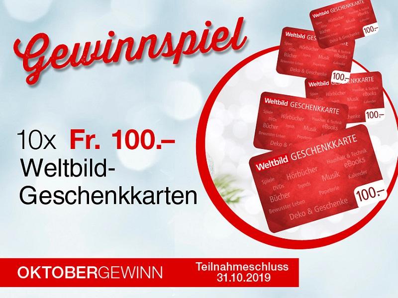 Gewinne 1000 Weltbild Geschenkkarten Wettbewerbe